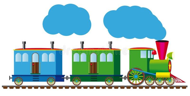 Grappige trein stock illustratie