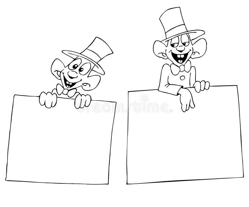 Grappige verkoper royalty-vrije illustratie
