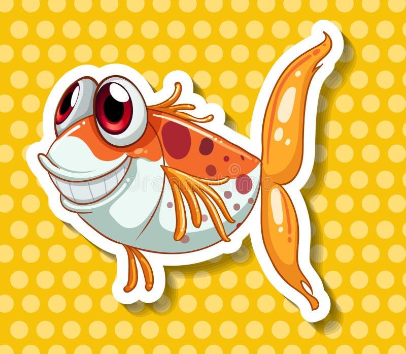 Grappige Vissen royalty-vrije illustratie