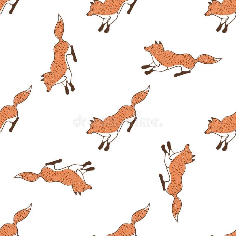 Grappige vossen, naadloos patroon voor uw ontwerp vector illustratie