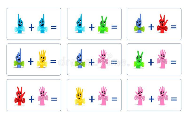 Grappige wiskunde, cdr vector vector illustratie