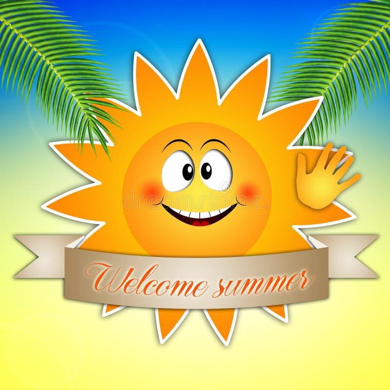 Grappige zon voor de zomertijd stock illustratie afbeelding 39840822 - Doek voor de zon ...