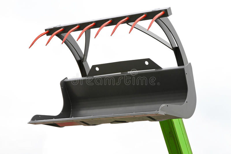 Grapple fork. Open grapple fork attachment for agriculture machinery stock image
