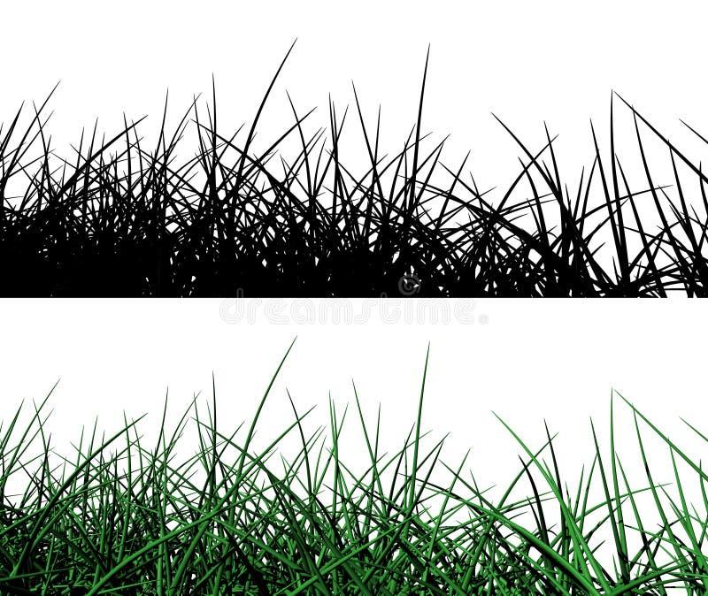 Gras 3d vektor abbildung