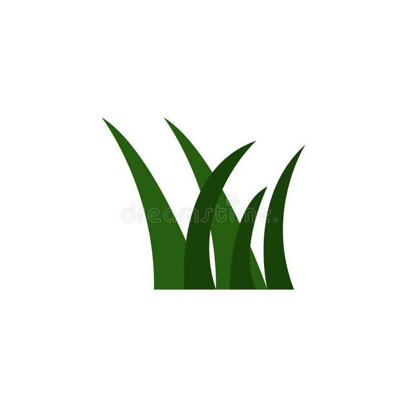 Gras farbige Ikone Element der farbigen Herbstikone für bewegliche Konzept und Netz apps Farbige Grasikone kann für Netz und Pöbe lizenzfreie abbildung