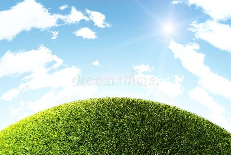Gras-Hügel lizenzfreies stockfoto