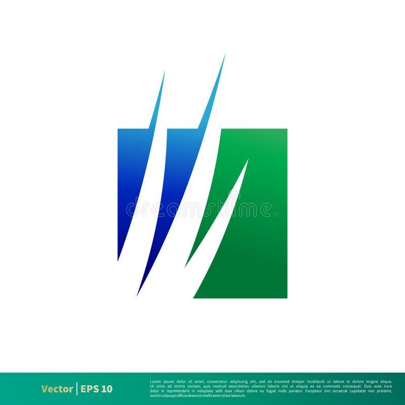 Gras-Ikonen-Vektor Logo Template Illustration Design Vektor ENV 10 vektor abbildung