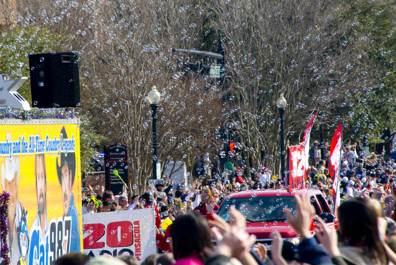 gras mardi游行 免版税库存图片