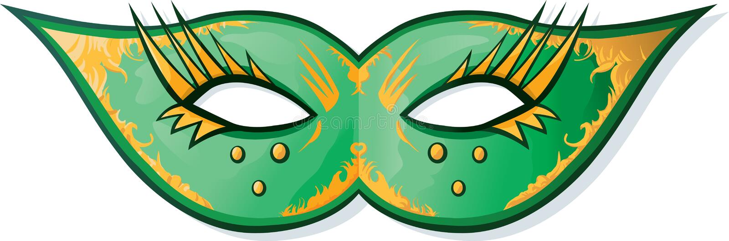 gras mardi maska ilustracji