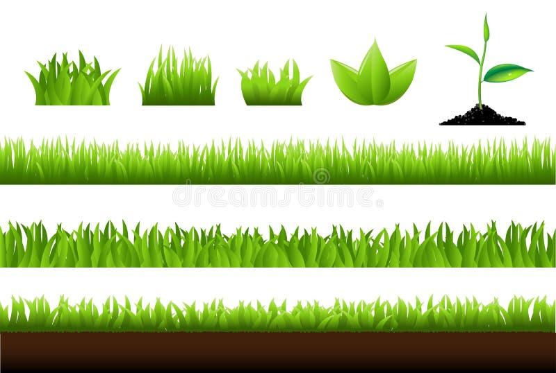 Gras-Set stock abbildung