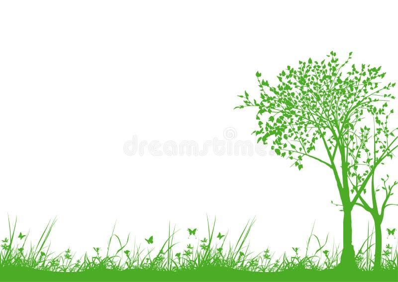 Gras und Bäume vektor abbildung