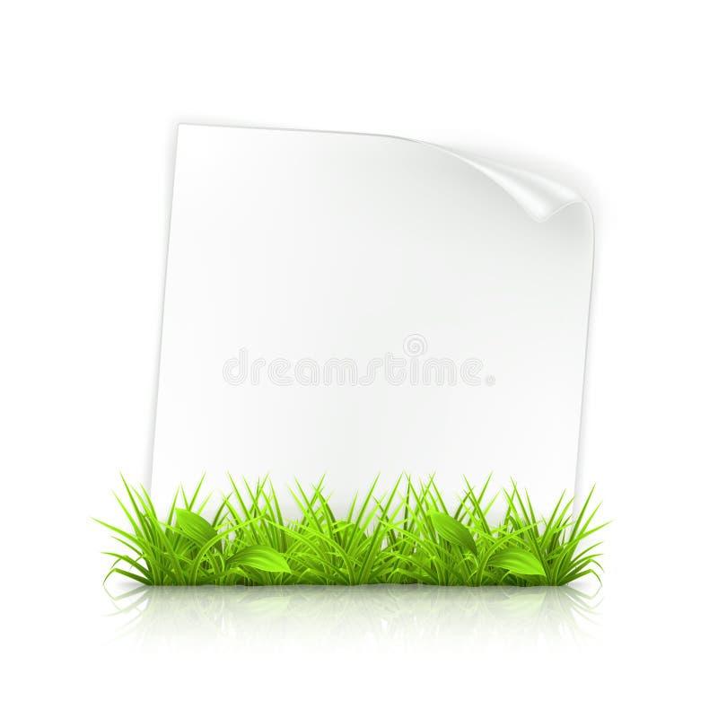 Gras und Papier vektor abbildung