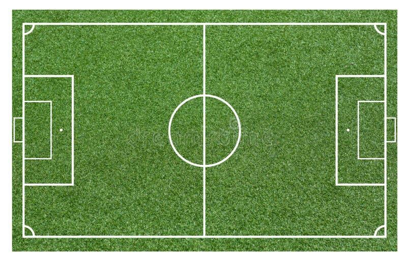 Gras van een voetbalgebied Voetbalgebied of van het voetbalgebied achtergrond royalty-vrije illustratie
