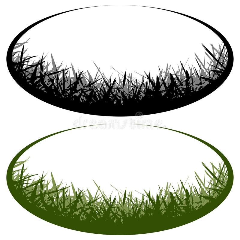 Gras vectorembleem stock illustratie