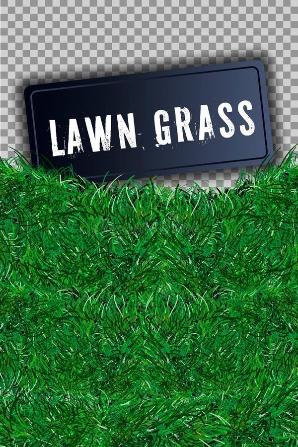 Gras vierkante 3D Mooi groen grasrijk die gebied, op witte transparante achtergrond wordt geïsoleerd Textuur van de gazon de abst royalty-vrije illustratie