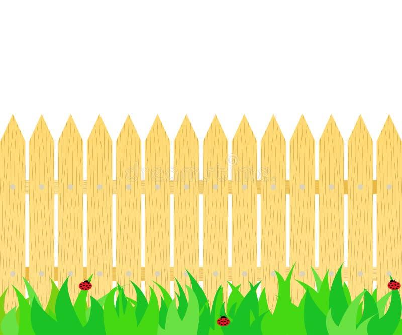 Gras voor de omheining royalty-vrije illustratie