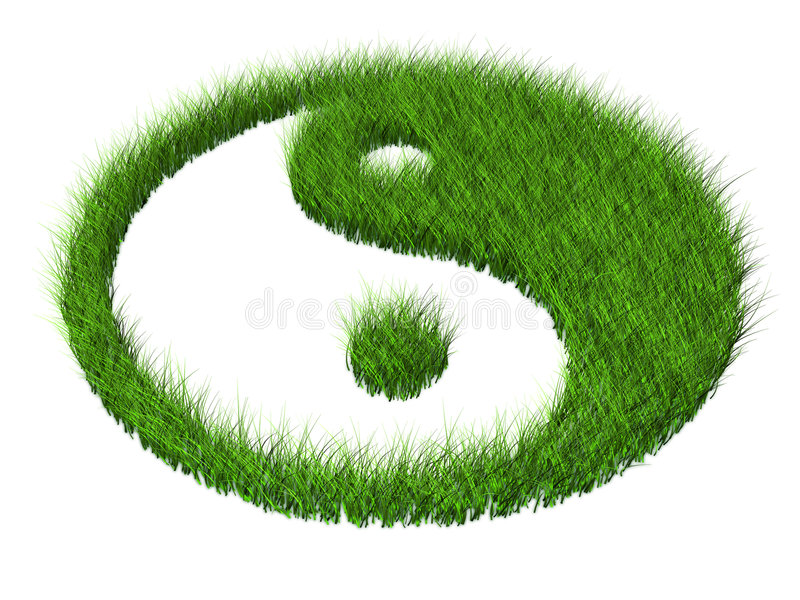 Gras yang stock illustratie