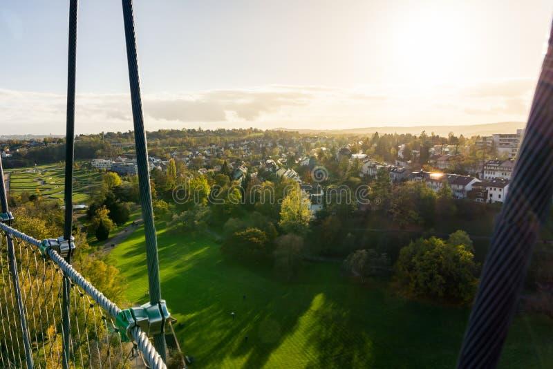 Grasartige Landschaft im Freien Autum Killesberg-Park-Stuttgarts Deutschland lizenzfreie stockbilder