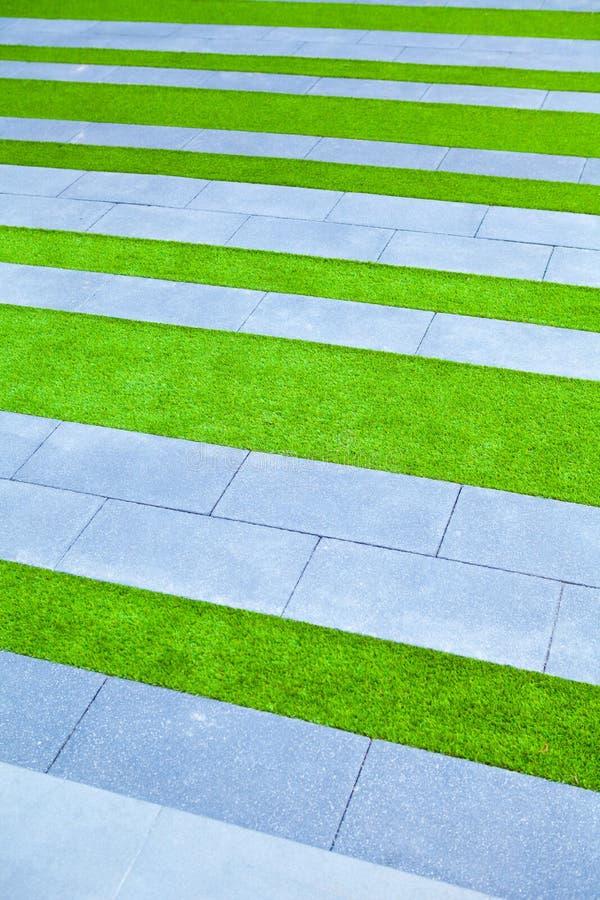 Grashintergrundgrün-Rasenmuster gemasert stockfotografie