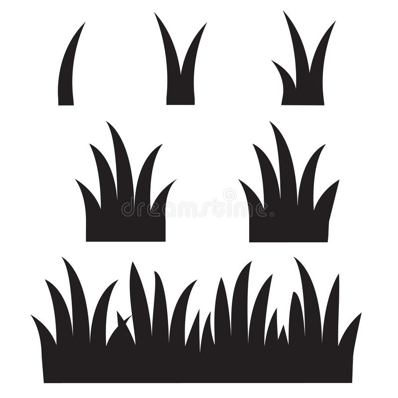Grasikone auf wei?em Hintergrund schwarze Grasschattenbildikone f?r Ihren Websiteentwurf, Logo, App, UI Schwarzes Gras lizenzfreie abbildung