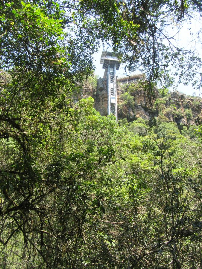 Graskop Gorge. The new Graskop Lift erected in December 2017 Lowveld SouthAfrica stock photo