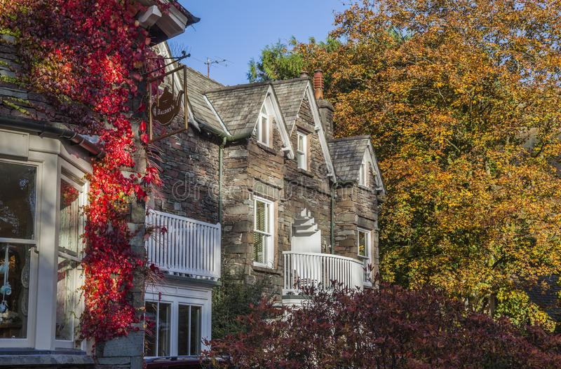 Grasmere, Lake District, Cumbria, England - a house. royalty free stock photography