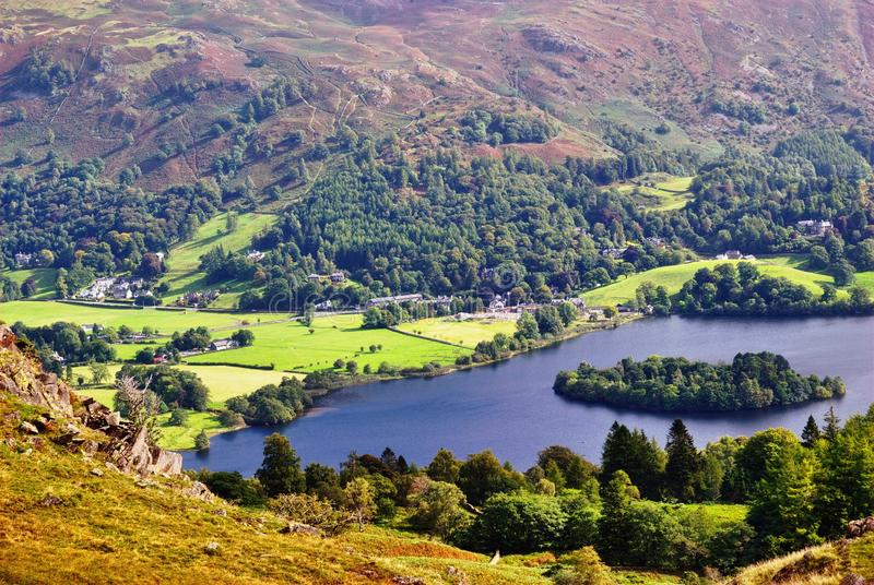 Download Grasmere from Silver Howe stock image. Image of serene - 17301519