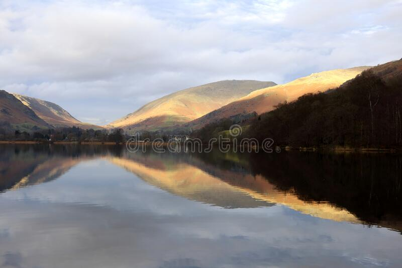Reflections of Grasmere. stock photos