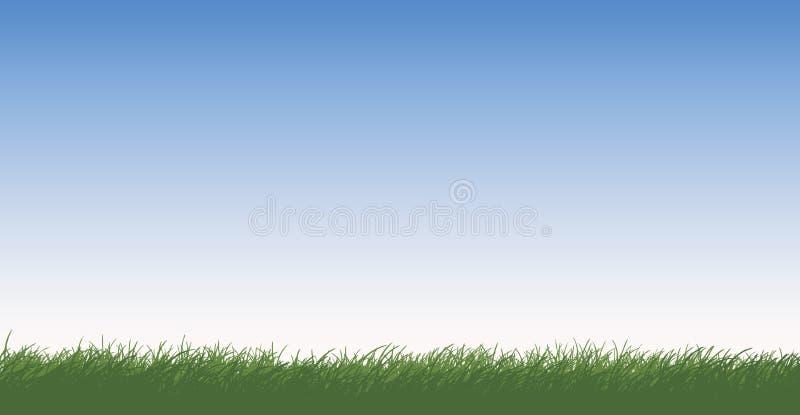 Grasrijk Gebied vector illustratie