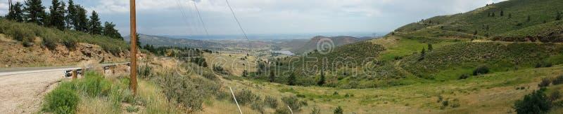Grasrijke Bergen in Noordelijk Colorado stock foto's