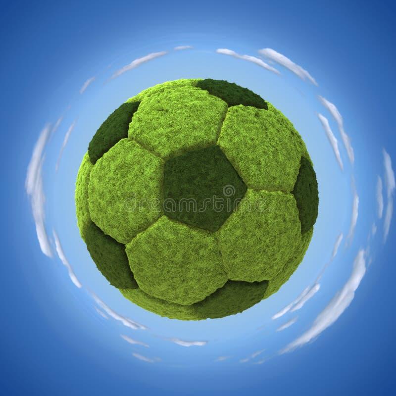 Grasrijke soccerball royalty-vrije illustratie