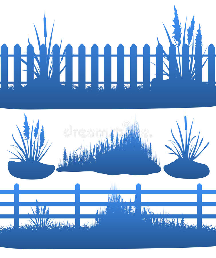 Download Grass stock vector. Image of fence, leaf, growth, garden - 15711684
