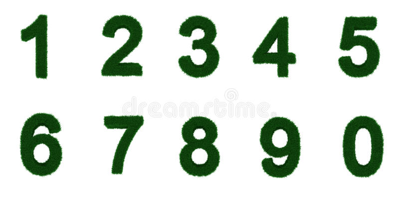 Download Grass Letter Set 1 To 0 Stock Photography - Image: 29235922