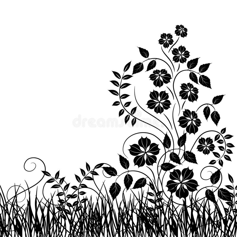 Free Grass And Flower, Vector Royalty Free Stock Photos - 2286168