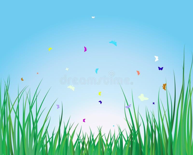 Grass background stock illustration