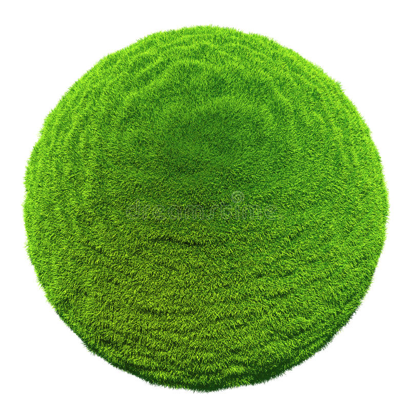 Download Grass Ball Isolated On White Background Stock Illustration - Image: 26414712