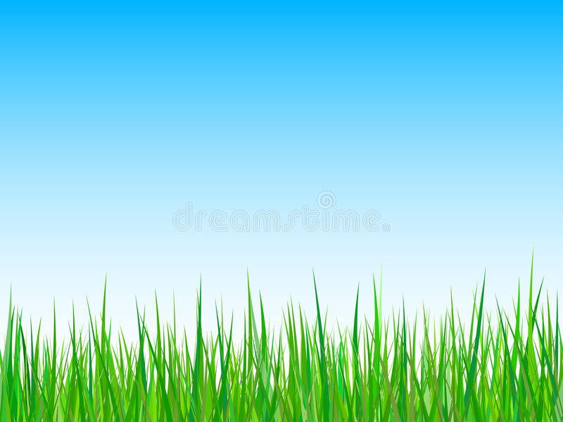 Download Grass On A Blue Sky Background. Vector Stock Vector - Image: 14311764
