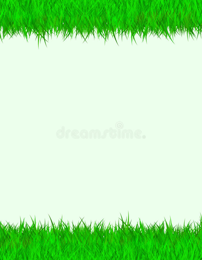 Grass border royalty free illustration