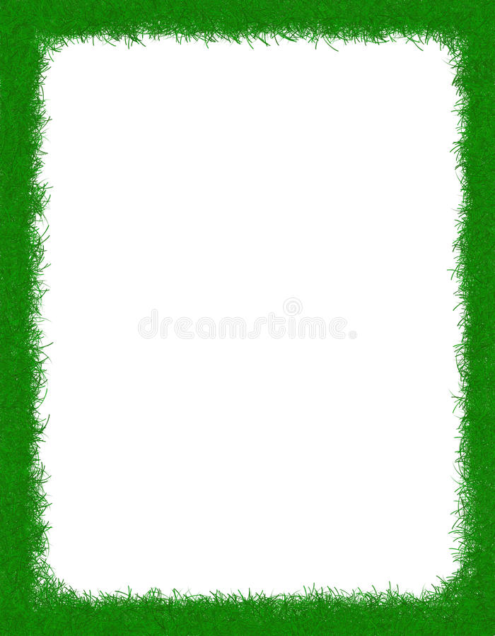 Grass border vector illustration