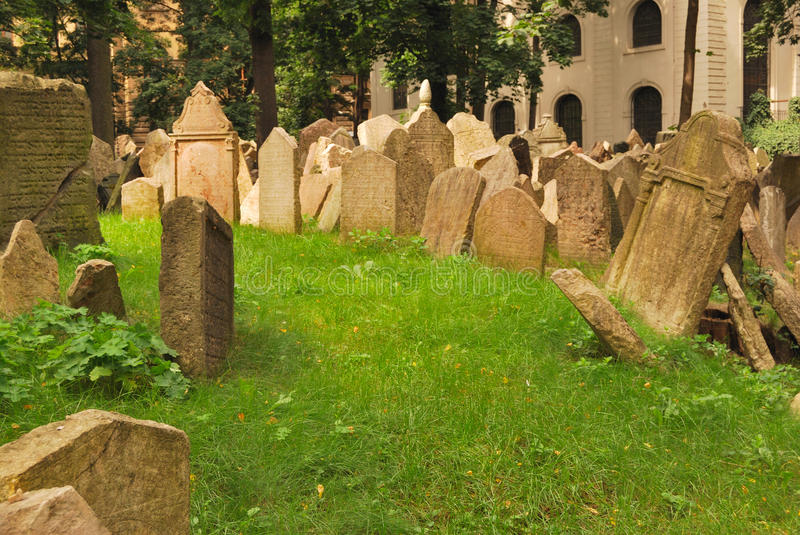 Grass In Cemetery Royalty Free Stock Photo