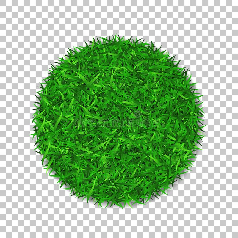 Grass circle 3D. Green plant, grassy round field, white transparent background. Symbol of globe sphere, fresh. Nature design, clear earth. Ecology design Save stock illustration