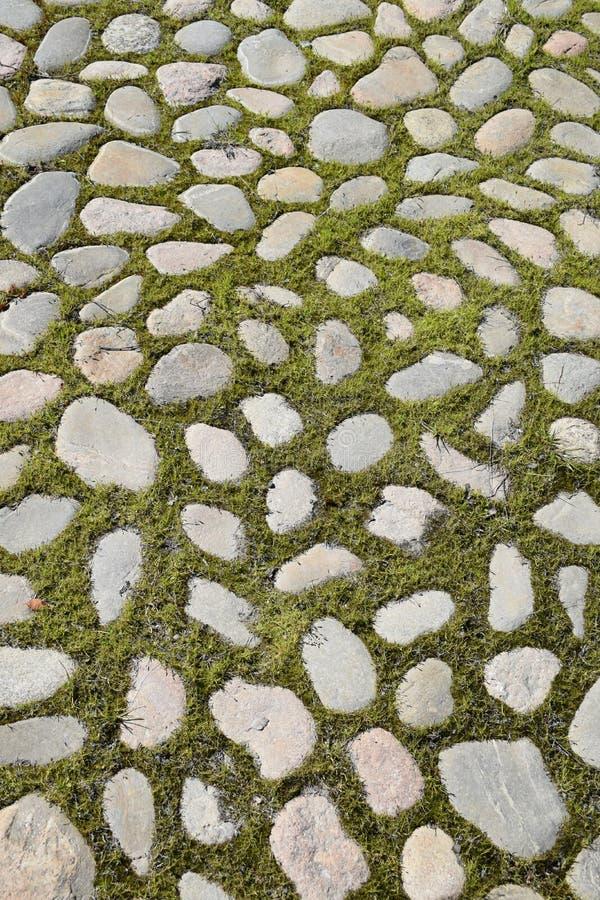Grass, Cobblestone, Road Surface, Pattern Free Public Domain Cc0 Image
