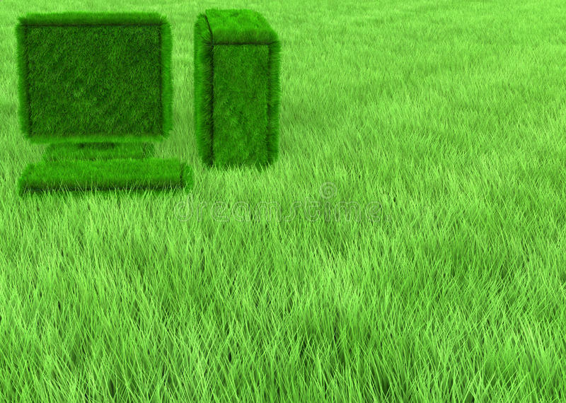 Grass computer wallpaper stock images