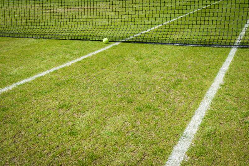 Grass court stock image
