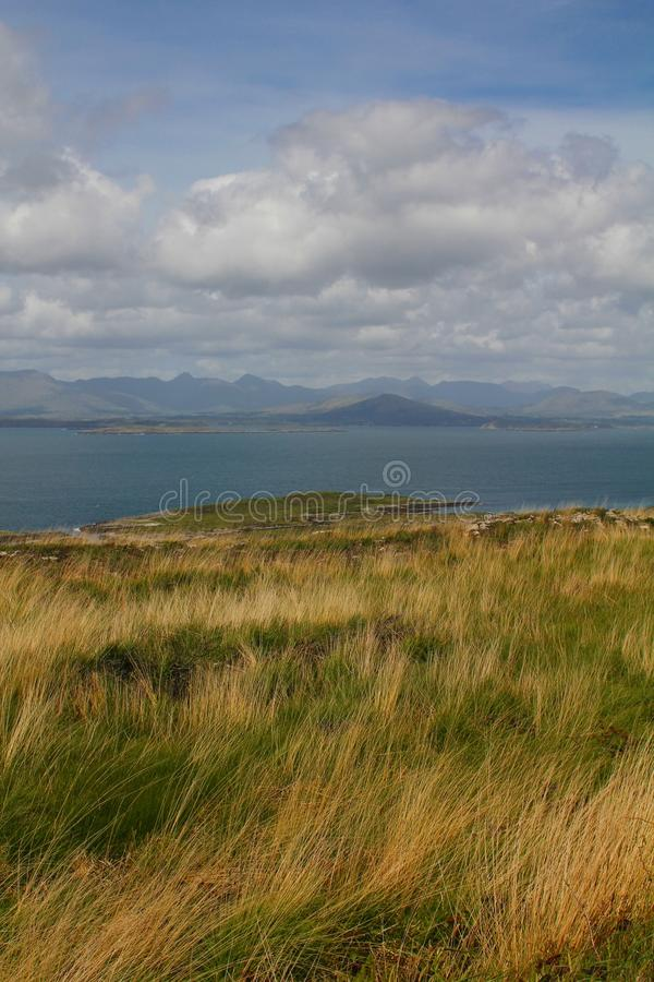 Download Grass Covered Cliffs Overlooking Peninsula And Sea Stock Photos - Image: 29223573