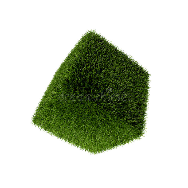 Download Grass cube stock illustration. Image of white, geometry - 41355172