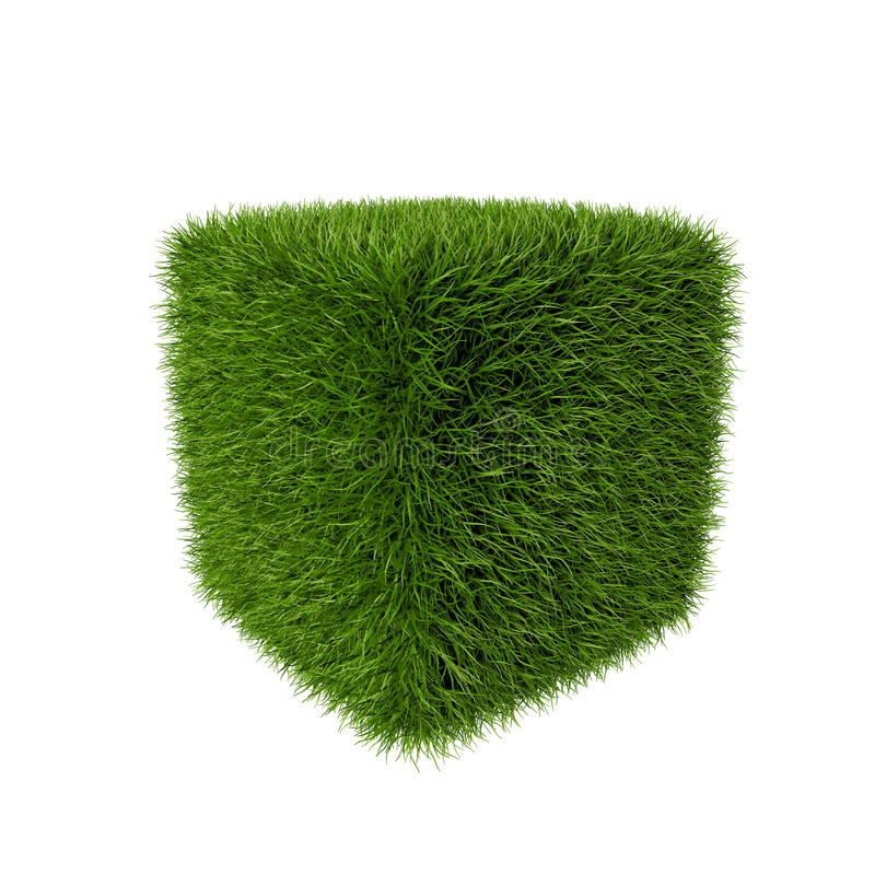 Download Grass cube stock illustration. Image of land, abstract - 41355213