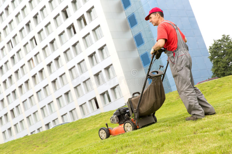Grass cutting stock photography