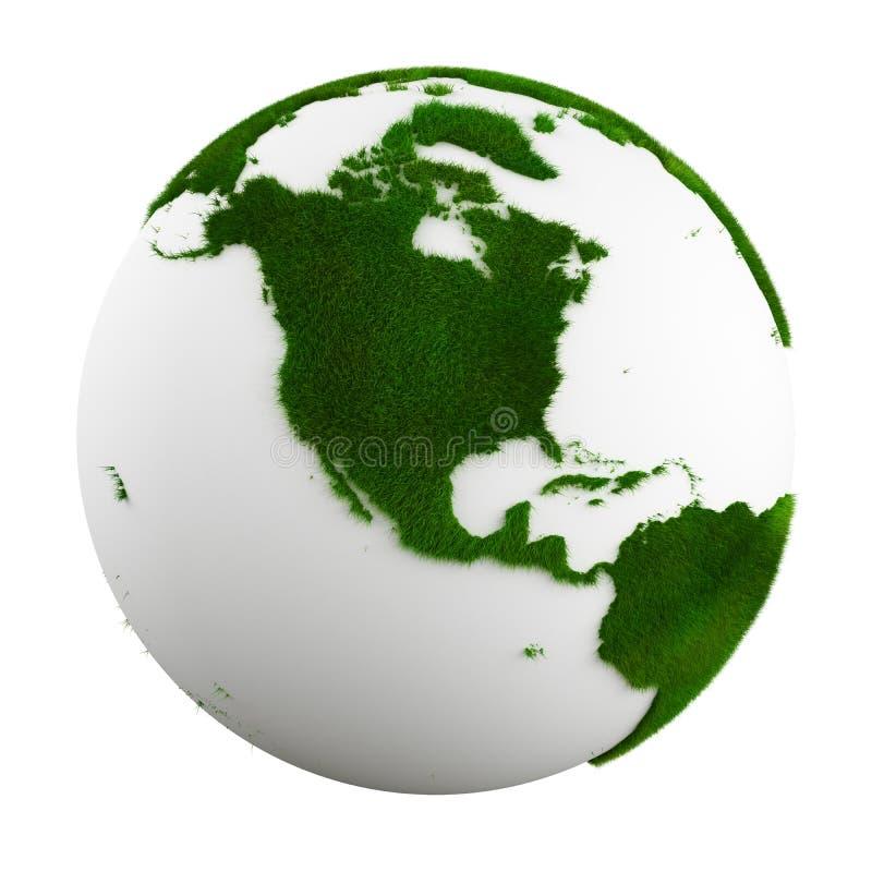 Grass earth - north america stock illustration