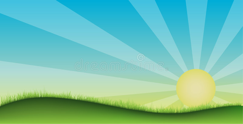 Grass field stock illustration